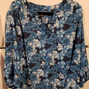 Lands End Size 20 Women's Blouse MINT long sleeved